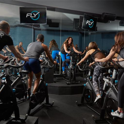 Flywheel Sports cycling class. (Photo: Facebook).