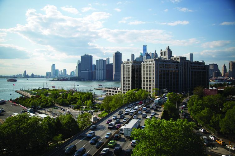 Straddled between the East River and the Brooklyn-Queens Expressway, Brooklyn Bridge Park has transformed a 1.3-mile stretch of Brooklyn waterfront.