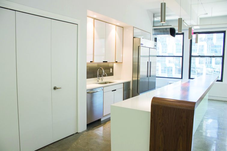 The pre-built 16th floor includes a new kitchen (Photo: Jemma Dilag/ For Commerical Observer).