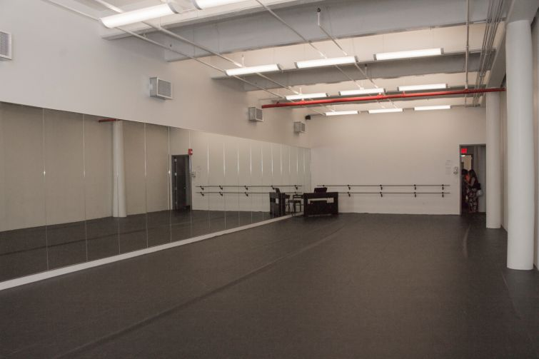 A studio at Joeffrey Ballet Center on the fourth floor of the building (Photo: Jemma Dilag/ For Commercial Observer).