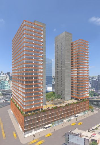 A rendering of the 1.1-million-square-foot office project (Photo Courtesy: Tishman Speyer).