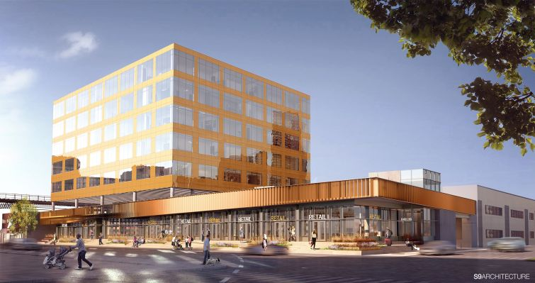 Cammeby's International's 626 Sheepshead Bay Road rendering. Rendering: S9 Architecture.