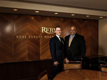 Rob Speyer, left, and REBNY President John Banks.