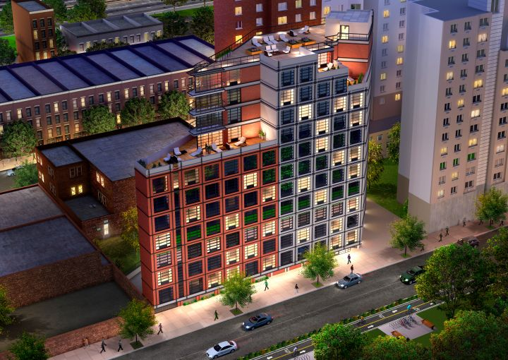A rendering of 329 East 132nd Street (Courtesy: JLL).