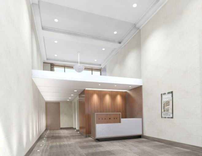 The lobby of 254 West 31st Street (Photo: Brause Realty).
