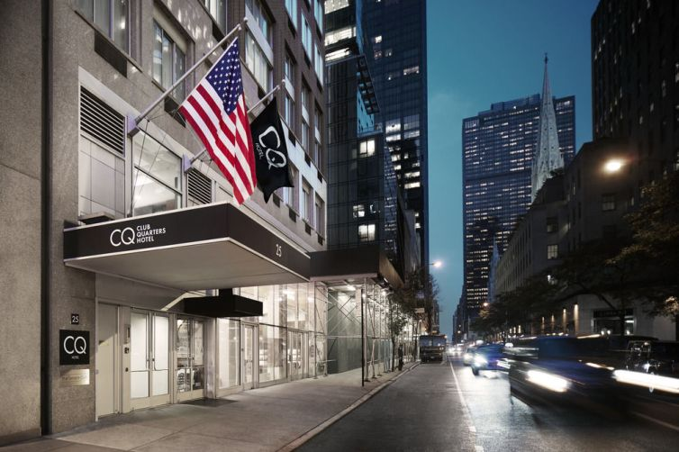 Club Quarters Hotel at 25 West 51st Street (Photo: Club Quarters website).