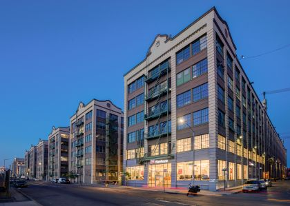 Building 3 at Industry City, which has Design Within Reach Warehouse on the ground floor (Photo: Industry City).