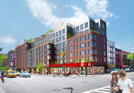 Rendering of the East Village Target at 500 East 14th Street.