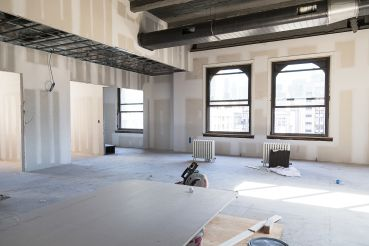Superfly's office under construction at 381 Park Avenue South (Photo: Kaitlyn Flannagan/ For Commercial Observer).