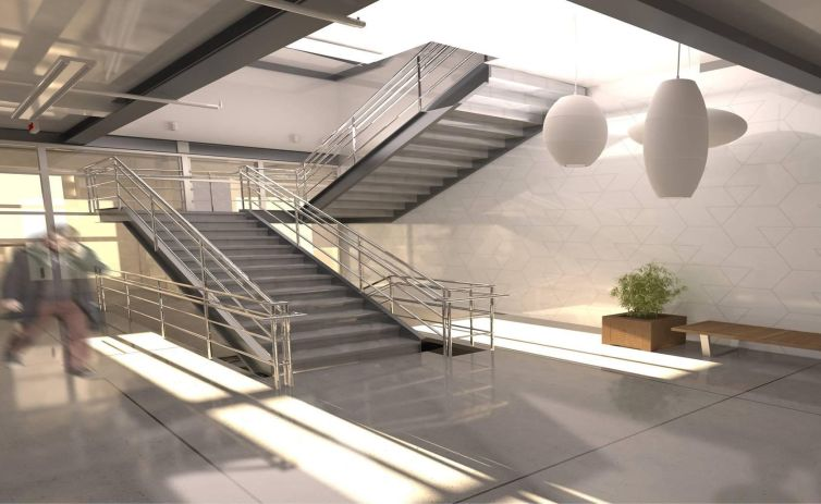 Rendering of the interior of the building (Rendering: The Mann Group).