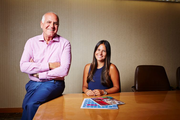 Jeff Winick and his daughter, Danielle Winick, who work together at Winick Realty Group.