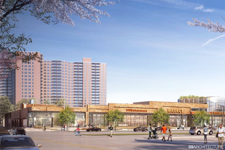 A rendering of the retail portion of 532 Neptune Avenue.