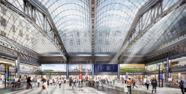 A rendering of the new Moynihan Station. Photo: SOM via flickr.com/governorandrewcuomo