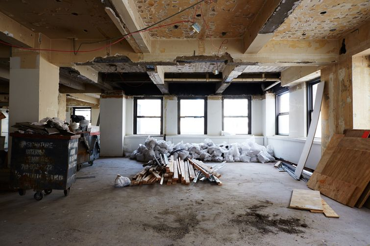 An office renovation at 30 Broad Street. Yvonne Albinowski/For Commercial Observer