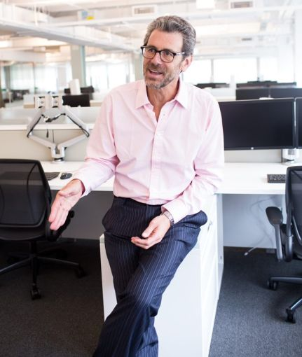 Tony Malkin, CEO of Empire State Realty Trust, in the companies new offices at 111 W33rd st.  - Aaron Adler for The Commercial Observer