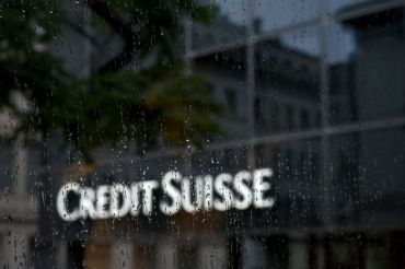 Swiss banking giant Credit Suisse in Basel. (Photo credit should read FABRICE COFFRINI/AFP/Getty Images).