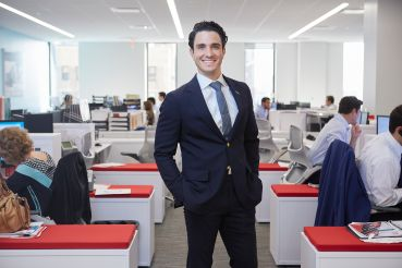 Stephen Palmese at Cushman & Wakefield's Brooklyn offices.