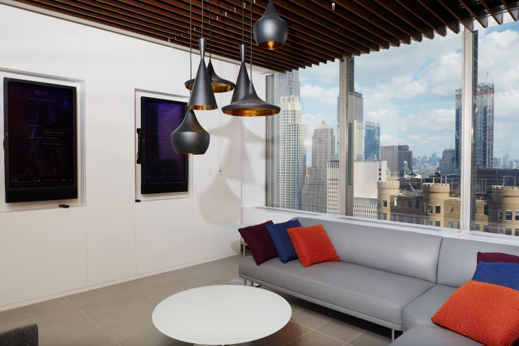 Relaxing common spaces are made with contemporary designs. Photo: Yvonne Albinowski/For Commercial Observer