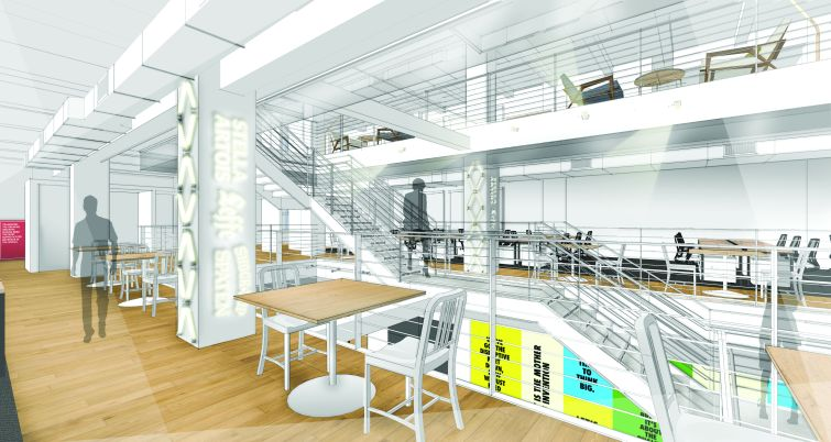 A rendering of Anheuser-Busch's new Chelsea offices. Rendering: TPG Architecture.