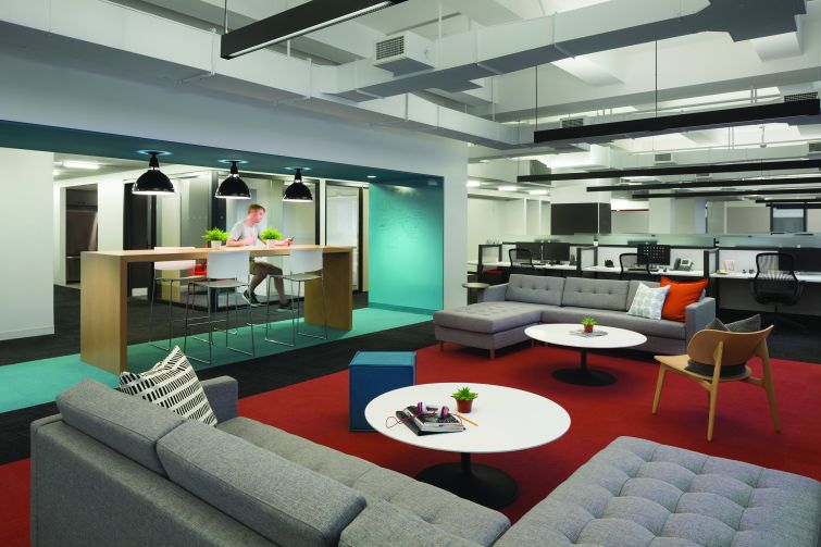 Teach for America's space at 25 Broadway. Image: HOK