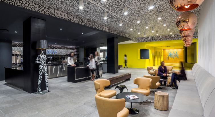 Initiative Media's office designed by Ted Moudis Associates. Photo: Ted Moudis Associates.