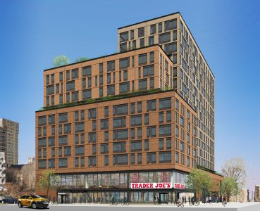 A preliminary rendering of a future Target at 145 Clinton Street.