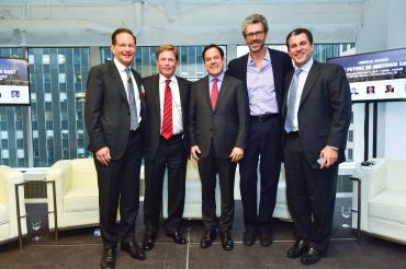 Left to right: Robert Sorin, Ken Fisher, Daniel Garodnick, Anthony E. Malkin and Peter Riguardi. Photo: Sean Zanni/PMC