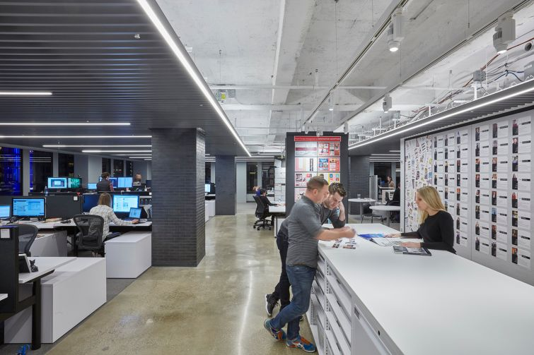 Gensler's offices have polished concrete floors in some areas with wide open spaces.  Photo: Gensler.