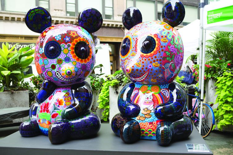 Fancy Animal Party is currently installed in the Garment District. Photo: James Maher