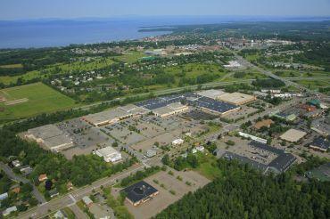 An aerial view of South Burlington, Vt.