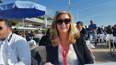 Virginia Pitarelli lunches at Le Goeland in Cannes. Photo: Lauren Elkies Schram