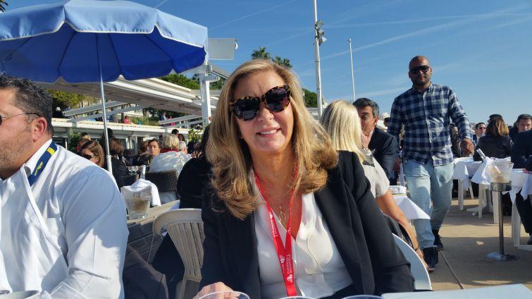 Virginia Pitarelli of Crown Retail Services at MAPIC. Photo: Lauren Elkies Schram.