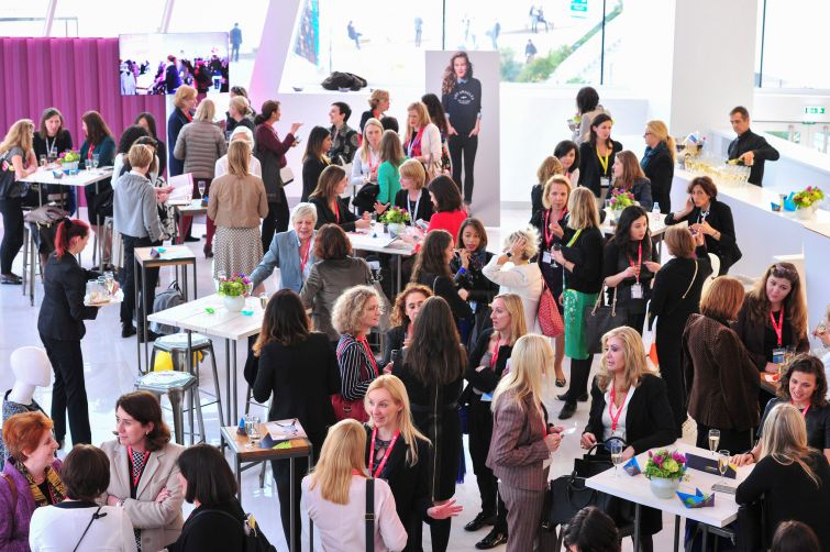 A female cocktail networking event at MAPIC. Photo: MAPIC World.