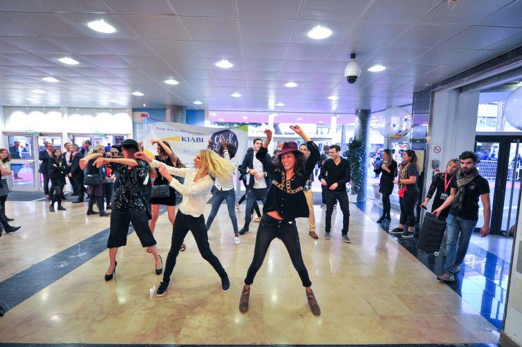 A flash mob event at MAPIC. Photo: MAPIC World.