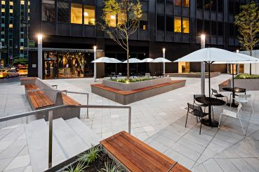 L&L updated its public plaza at 600 Third Avenue to have a vibrant environment around the building. Photo: Alan Schindler.