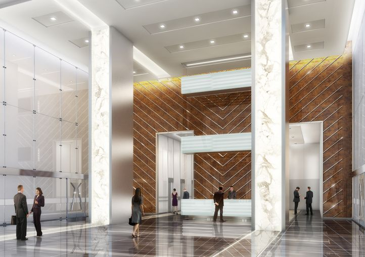 A rendering of the new lobby of 3 Park Avenue. Photo: Cohen Brothers Realty Corporation.