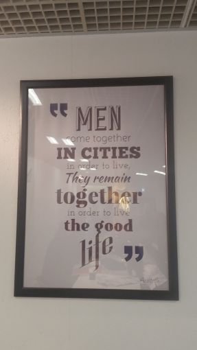 A quote at the Wilhelm & Co. Group booth at MAPIC. Photo: Lauren Elkies Schram.