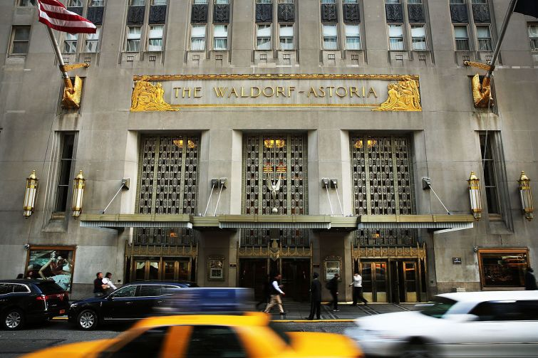 The Waldorf Astoria. Courtesy: Getty Images.