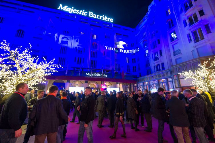 A MAPIC welcome party on Nov. 15 sponsored by Thor Equities. Photo: Lauren Elkies Schram.