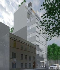A rendering of 435 West 19th Street.