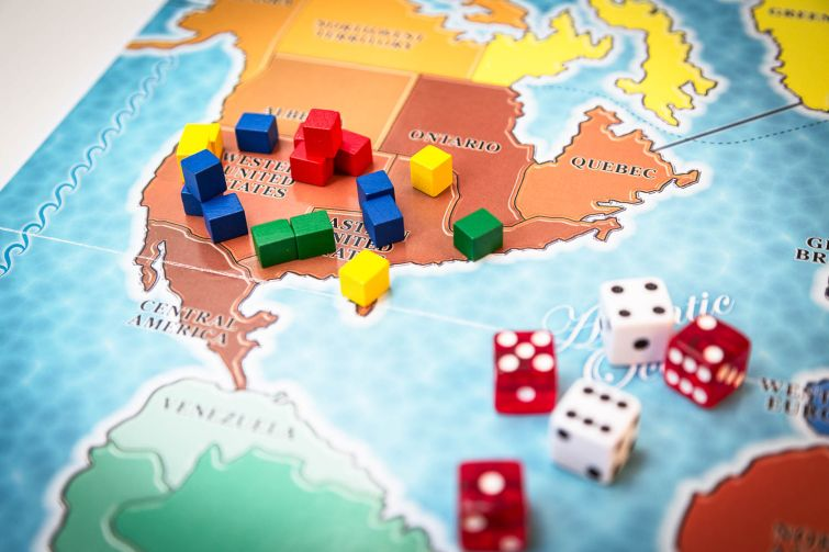 Game of Risk. Photo by Kaitlyn Flannagan/ Observer.