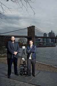 VirtualAPTs Co-Founders Bryan Colin, left, and Robin Van Der Zwan with VR2 in Dumbo. Photo: Yvonne Albinowski/For Commercial Observer.