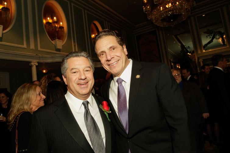 Marc Holliday and Gov. Andrew Cuomo. Photo: Jill Lotenberg Photography