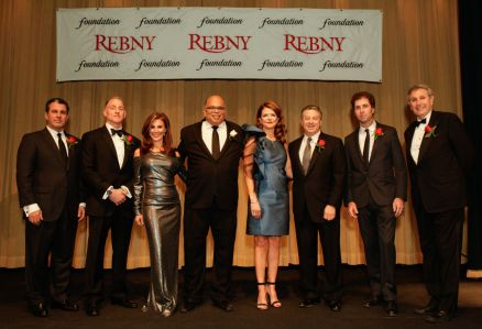 From left to right: Peter Riguardi, Bill Dacunto, Lindsay Ornstein, John Banks, MaryAnne Gilmartin, Marc Holliday, Jed Walentas and Carl Weisbrod. Photo: Jill Lotenberg Photography