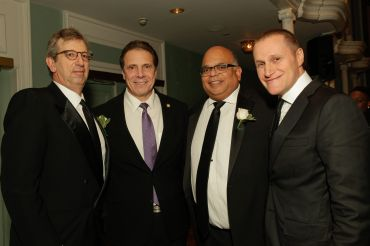 William Rudin, Gov. Andrew Cuomo, John Banks and Rob Speyer (January 2017).