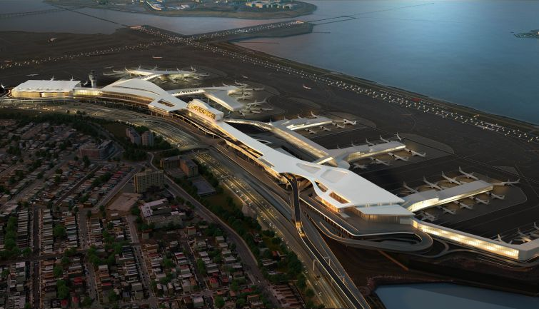 A rendering of the new LaGuardia Airport. Photo: flickr.com/governorandrewcuomo