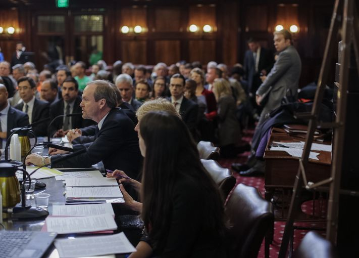 New York City Commissioner Rick Chandler testifying before the City Council today. Photo: William Alatriste