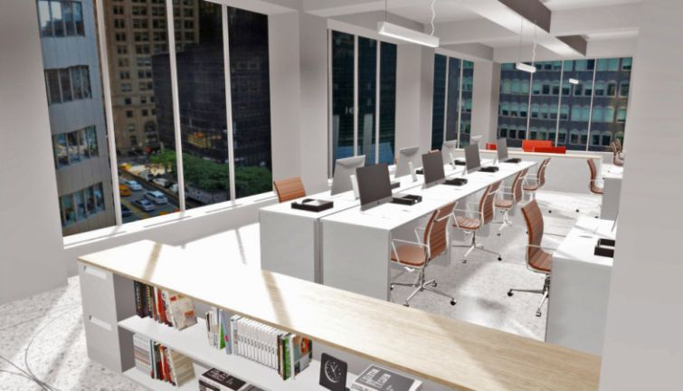 Floored's graphic of space at Vornado Realty Trust's 90 Park Avenue.