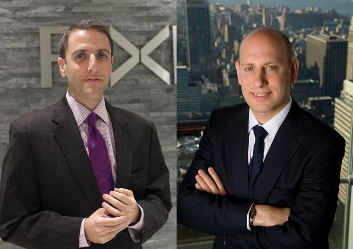 Seth Pinsky of RXR Realty, left, and Jordan Barowitz of the Durst Organization.