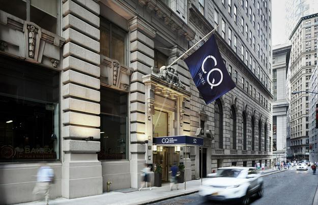 Club Quarters Hotel Wall Street at 52 William Street.